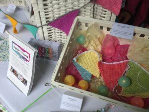 handmade crocheted bunting